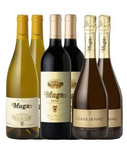 pack-vino-muga-blanco-crianza-cava-conde-de-haro-doowine